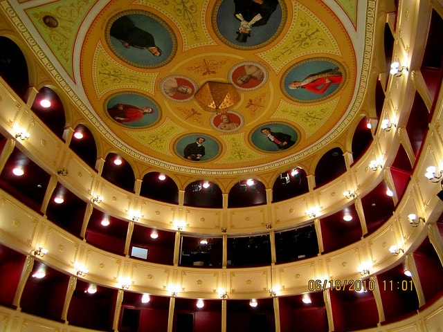 Visiting the beautiful Apollo Theatre is one of the best things to do in Syros.