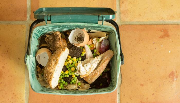 Food waste. Bin.