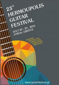 Hermoupolis Guitar Festival is one of the biggest events that will take place on Syros island this July.